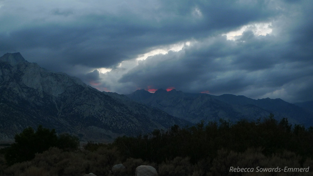 We got about 30 seconds of this awesome firey glow towards Mt Whitney