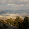 From the saddle there is an incredible view down on the dry Owens Lake. The afternoon's storms are still clearing.