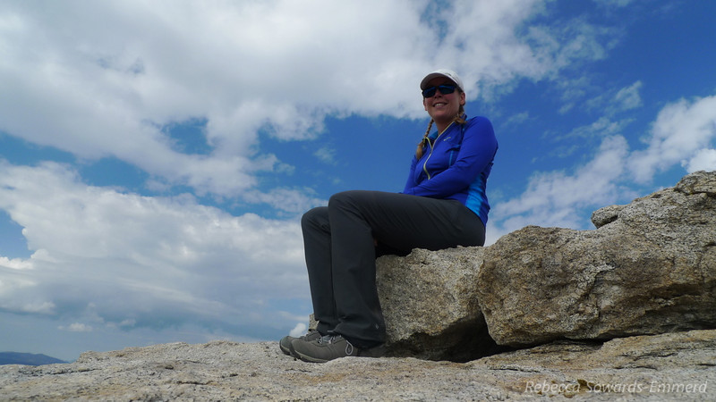 Me on the summit. Yay!