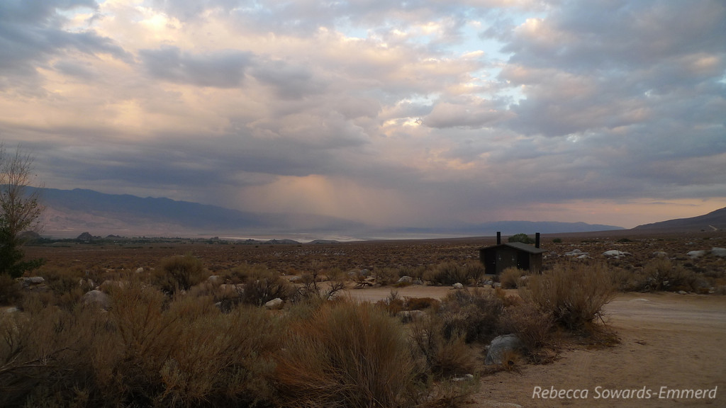 Rain towards Death Valley - I think this was the night  that a bunch of washouts happened along 190 into the park.