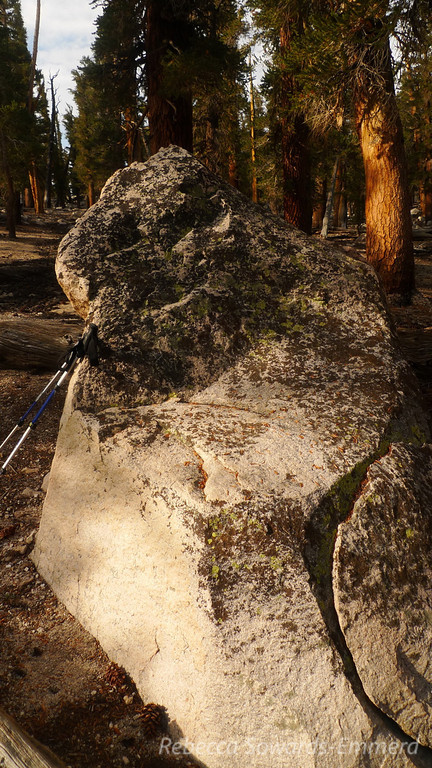 Just below trail pass I found this awesome recliner rock. Sat here and had some snacks.