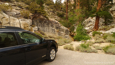 Parked at the paved pullout trailhead for Wonoga Peak.