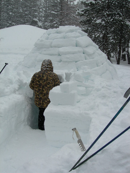 The warm and cozy igloo.