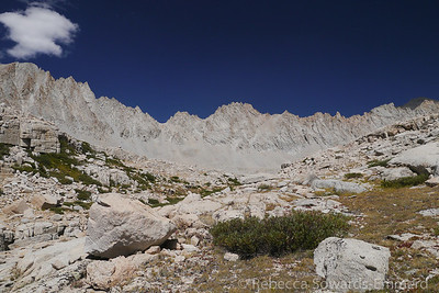 Mt Versteeg is straight ahead in the middle of the ridge. It's a fascinating ridge to look at.