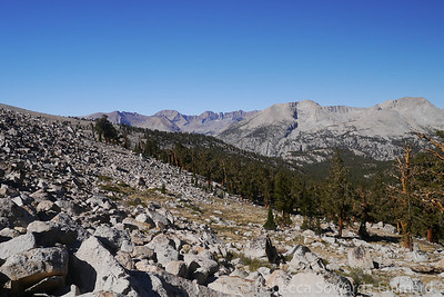The next morning we packed up and spent the first mile of the day hiking along the JMT.