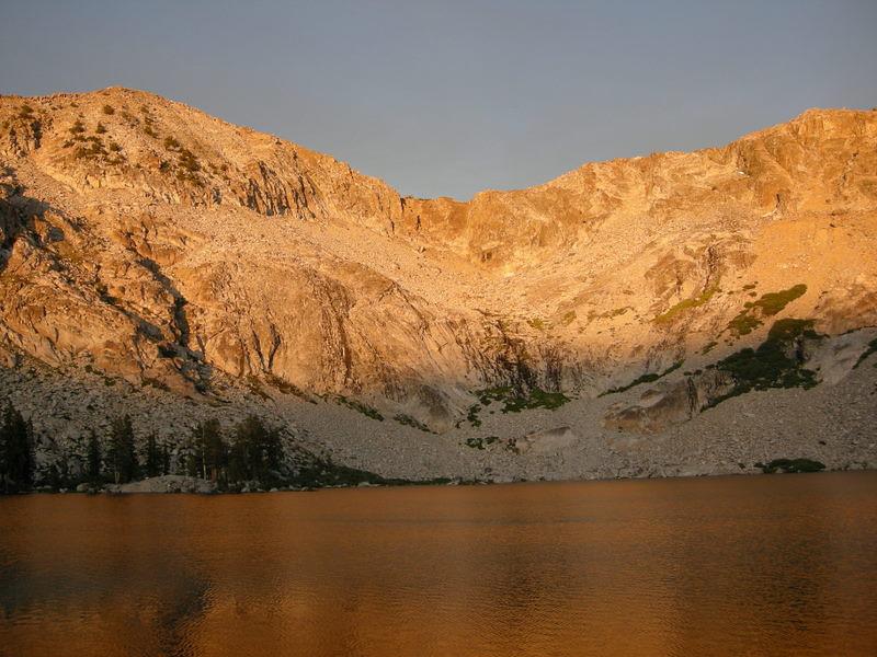 Sunset at Upper Chain Lake