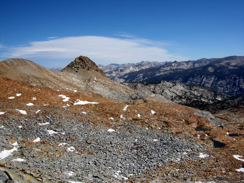 Views from Red Peak Pass<br /> <br /> The rest of today's hike would take us through the head waters of the Merced River