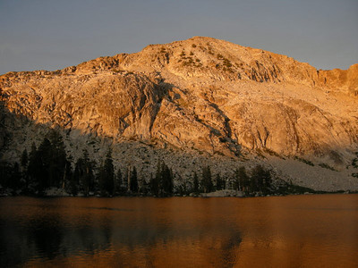 Gale Peak and Upper Chain Lake at Sunset