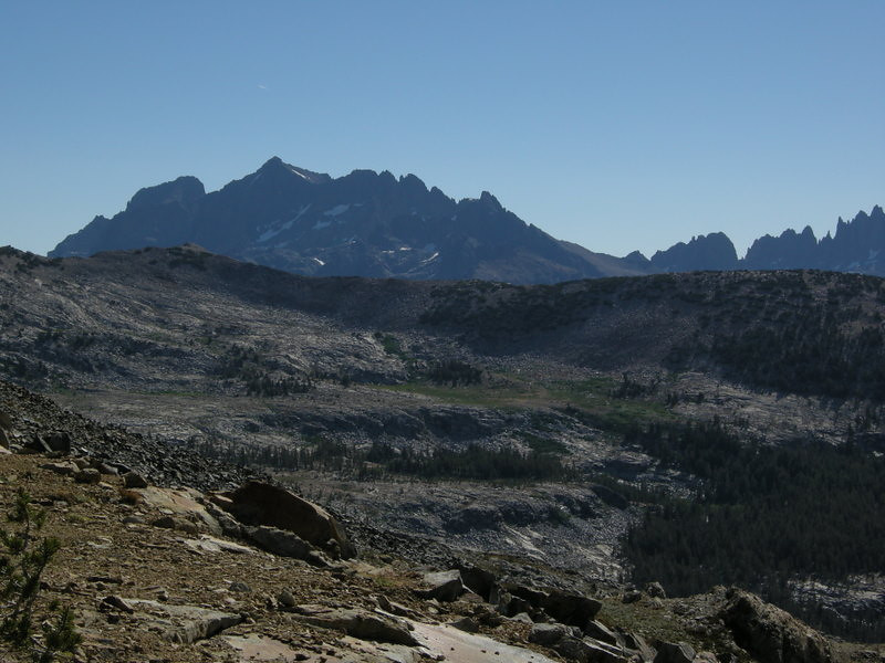 The view of Banner/Ritter/Minarets from the Pass ridge is breathtaking!<br /> <br /> Next month I'll be hiking by these peaks on the other side when I am on the JMT