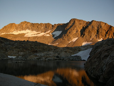 Alpenglow on Merced Peak