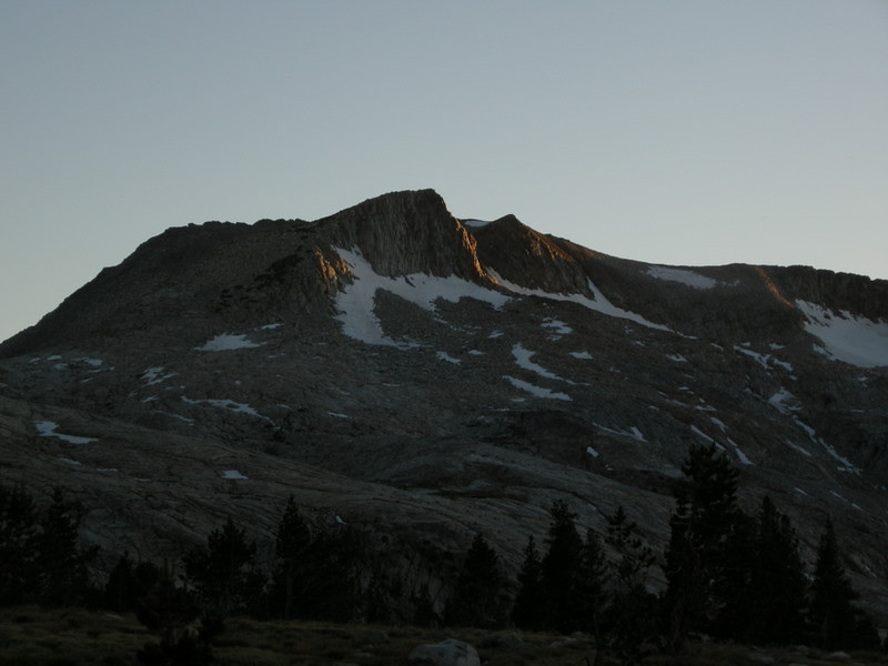 Sunset glow and glaciers