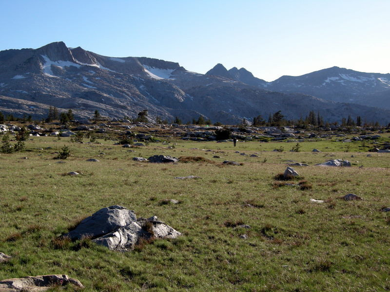 Triple Divide Peak (center of photo)<br /> <br /> The loop that we hiked over the five days essentially circled this peak