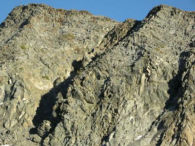 Interesting shadows casted by the rocks below Merced Peak