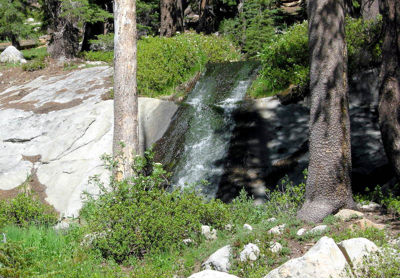 Waterfall between Middle and Upper Chain Lake