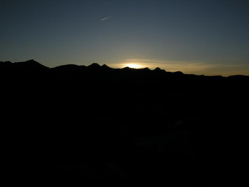 Sunset over the Clark Range<br /> <br /> Red Peak, Gray Peak, and Mt Clark