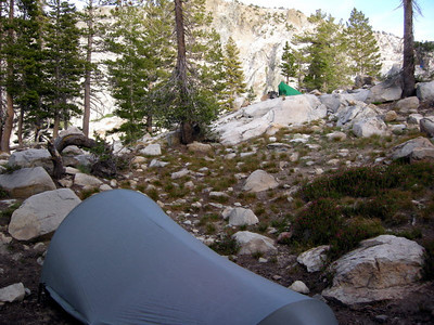 Camp at Upper Chain Lake  It was buggy, but not as bad as the lower two lakes