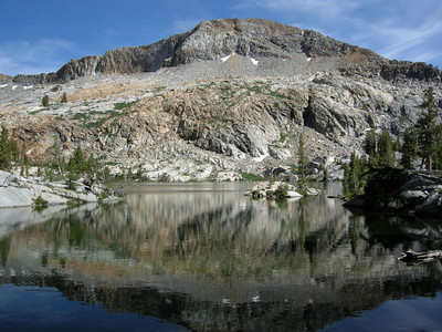 Lower Ottoway Lake  We had planned on camping here, but arrived so early that we decided to head for the Upper Lake, but still took some time for a swim here at Lower Ottoway