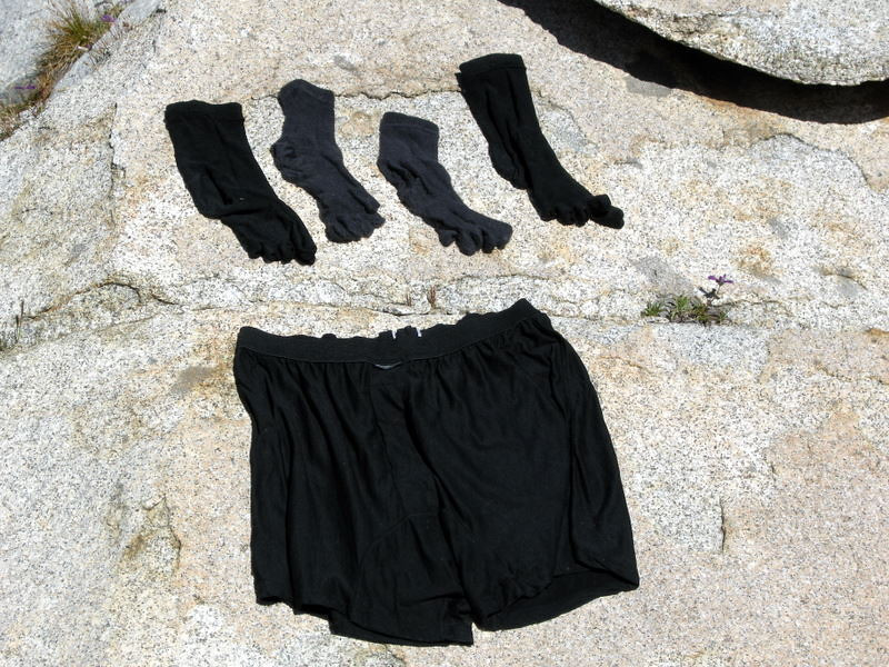 Laundry day!<br /> <br /> We camped just below Isberg Peak at a lake that was perfect for swimming.