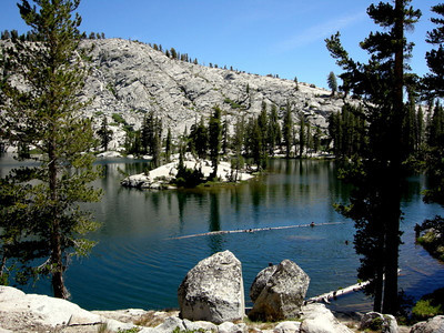 Middle Chain Lake  Still buggy, and busy, but the water sure looked inviting.
