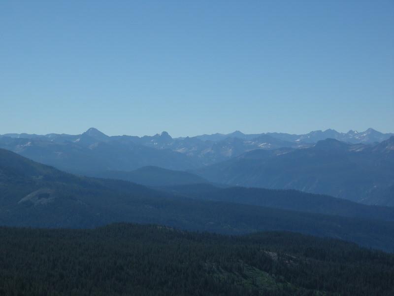 High Sierra view from Post Peak Pass