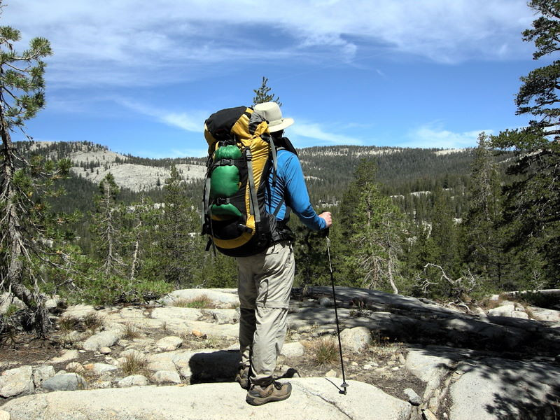 Steve and his Osprey Pack<br /> <br /> Pausing at one of the few breaks in the bugs - fortunately in a place with a view