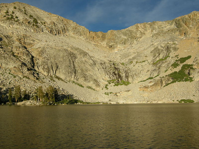Early sunset glow at Upper Chain Lake