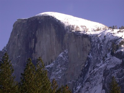 Snow on Half Dome