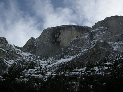 Half Dome looms above us