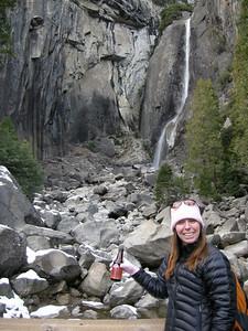 Lower yosemite falls and beer