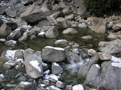 Pools at the base of the falls