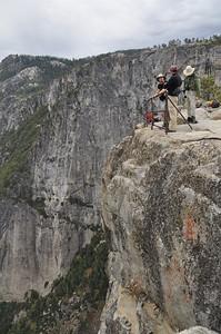 David, Paul, and Steve hang out at Yosemite Point.