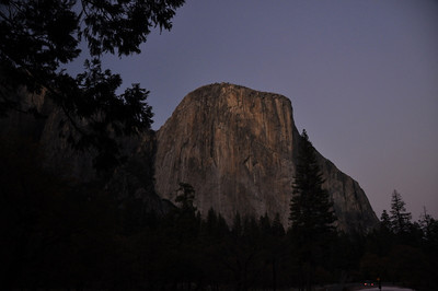 El Capitan from the Valley floor. This weekend was a big celebration in the Valley for the 50th anniversary of the first ascent of the Nose.