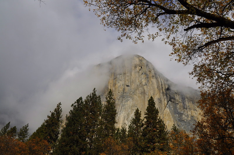 Clouds clearing around El Capitan