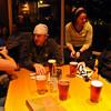Sarah, Greg, Barbara, Jim, and a fresh round of beer.