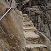 The gnarliest part of the last few steps to the viewpoint. You don't want to look down the right side of these steps.
