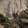 Upper Yosemite Falls and Yosemite Point (to the right)