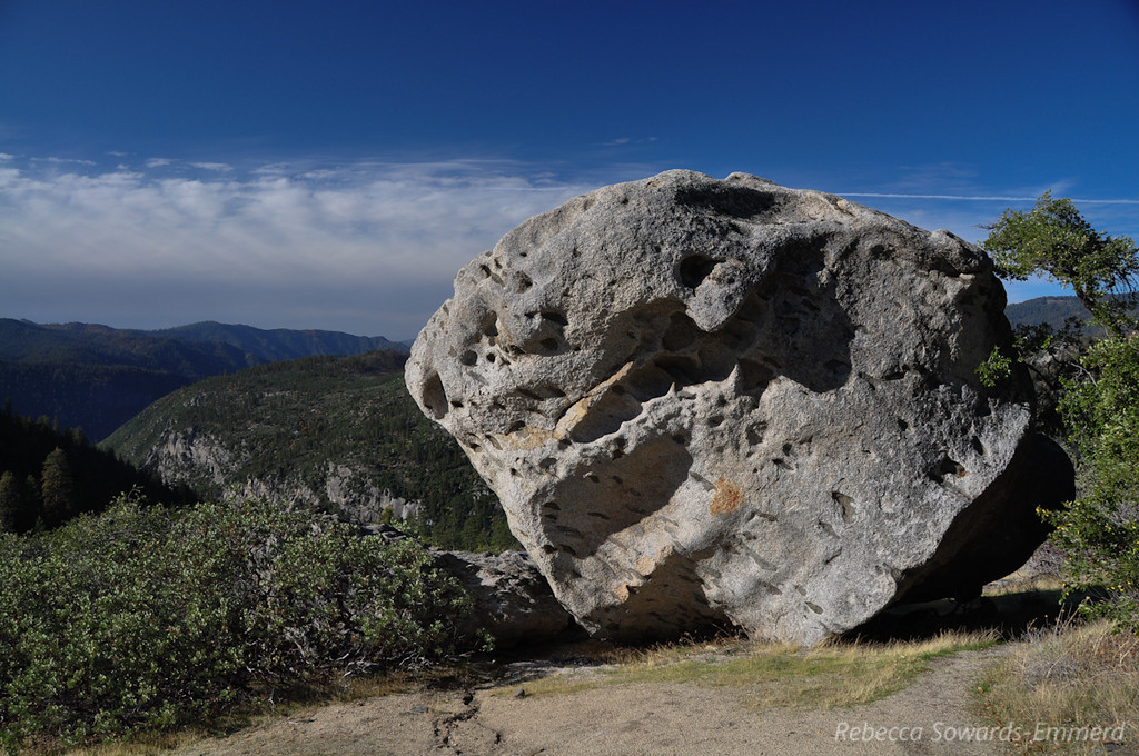 There are several nice boulders up here - although no one else was around, the chalk marks made it clear that this is a regular bouldering destination.