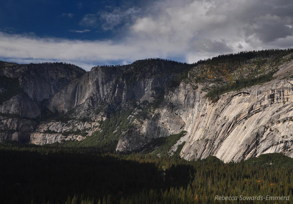 Yosemite Falls from half way up Sierra Point