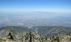 Looking down on the Inland Empire and the Santa Ana Mountains in the distance.