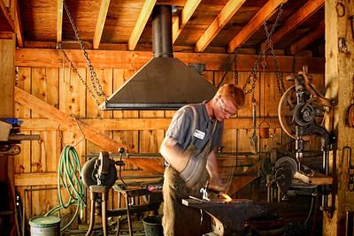 Foresthill Museum Blacksmith shop - Dan West