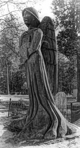 Statue in St. Joseph's Catholic cemetery - Foresthill, Ca