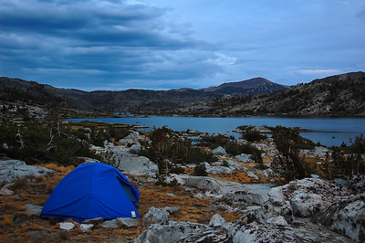 Our camp site above Thousand Islands Lake