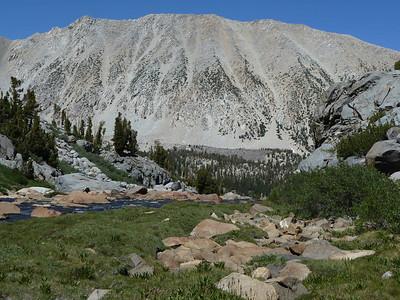 The surrounding mountains.