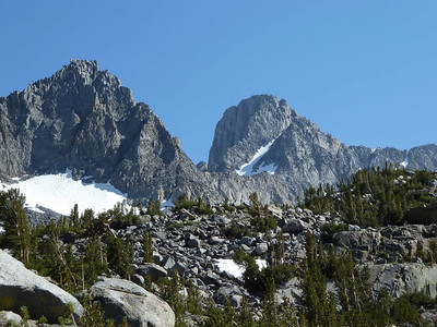 East side of Mt. Sill, the other side of which I climbed 2 weeks before on a personal trip with friends.