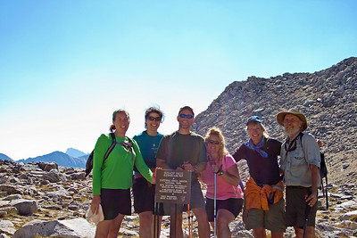 At Bishop Pass, 12000 feet.