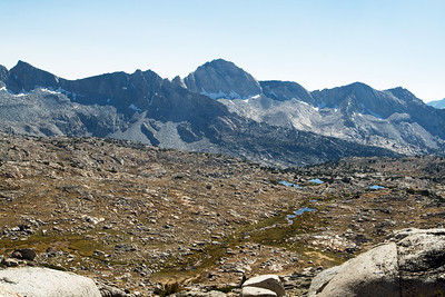 Upper Dusy Basin far below.