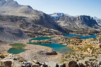 Bishop Lake and Saddlerock Lake from Bishop Pass. It doesn't get much better than this.