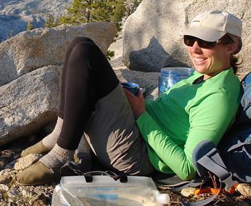 Guide Carolyn at a secret spot in Yosemite.