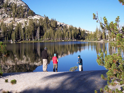 A great place for morning coffee - Cathedral Lake.
