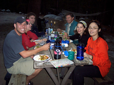 After pack checks, a gormet stir-fry backpack dinner. 9-10-07